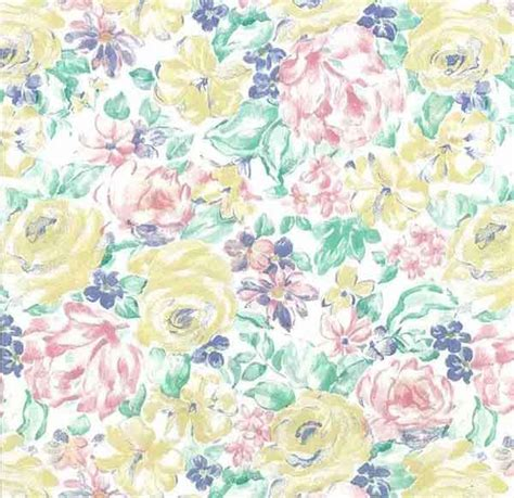 pastel flower pattern wallpaper vintage shand kydd floral wallpaper pink yellow green blue