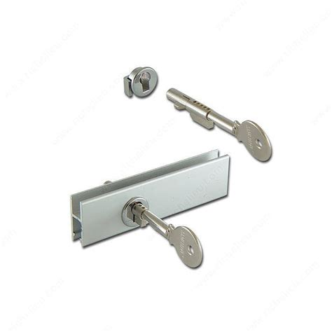 Glass Door Cabinet Hardware Cabinet Sliding Glass Door Lock For Glass Rail Richelieu
