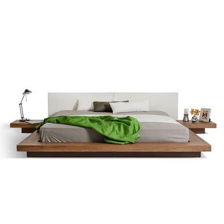 modern low profile bed modrest opal modern low profile platform bed walnut