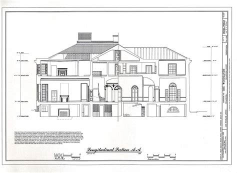 section plan of house heritage documentation programs habs haer hals crgis