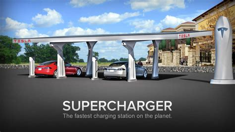 Tesla Fastest Electric Car Tesla Supercharger Charging Stations Expand Beyond
