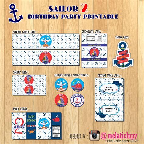 Stiker Label Nama Mix Karakter Paket B Stationery Sekolah jual paket stiker label ulang tahun anak tema sailor 2 stiker onlen