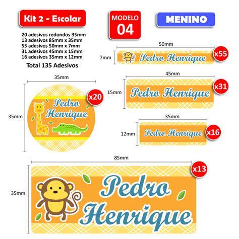 imagenes para etiquetas escolares gratis kit2 escolar meninos 135 etiquetas adesivas identifix