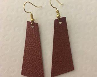 Faux Leather Earring faux leather earring etsy