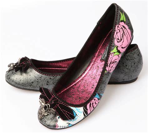 skull flats shoes iron sugar witch flats skull shoes vegan ebay