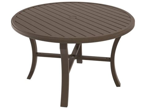 tropitone banchetto aluminum 48 round dining table with