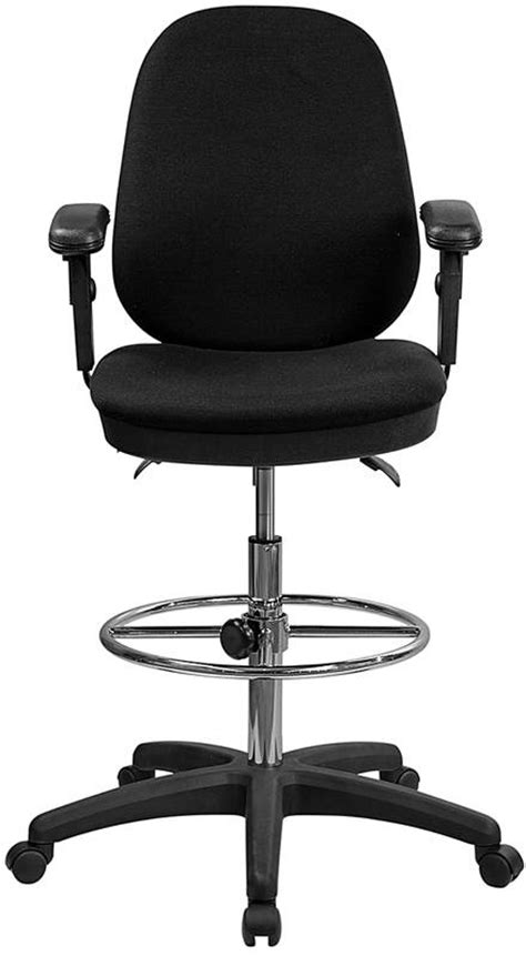 Reclining Office Chair With Leg Rest by Office Desk Chair Adjustable Ergonomic Drafting Stool