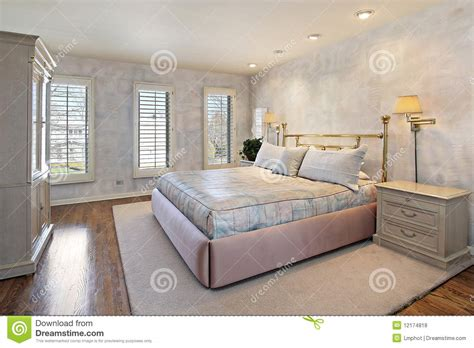 Master Bedroom Wooden Flooring Master Bedroom With Wood Floors Royalty Free Stock Photos