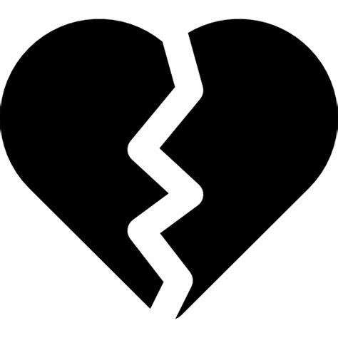 imagenes de corazones a la mitad coraz 243 n partido por la mitad iconos gratis de formas