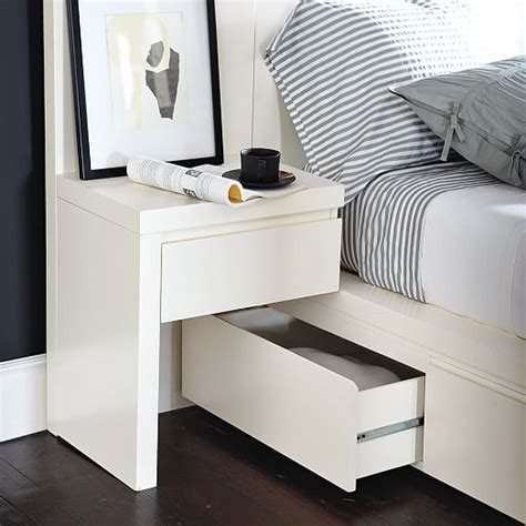 Nightstand Bed Storage Bed Nightstand White West Elm