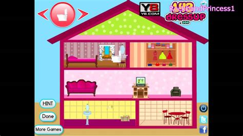 barbie doll house decor game barbie  game youtube