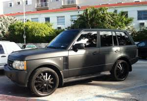 matte black range rover supercharged cars on the