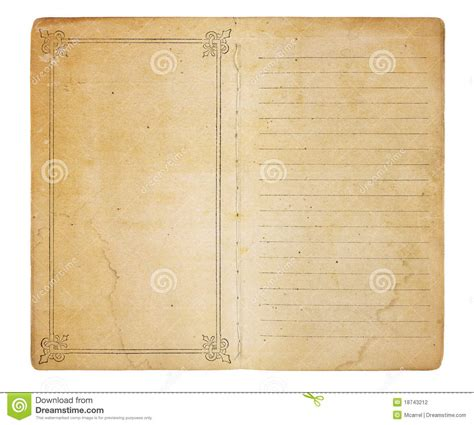 Vintage Memo Template Vintage Memo Book Stock Photo Image Of Border 18743212
