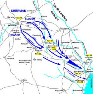 map of sherman maps of sherman s march sherman s march to the sea