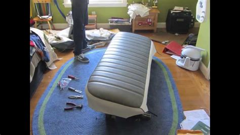 reupholstering the bench seat youtube