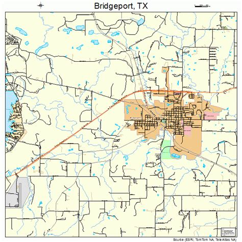 bridgeport texas map bridgeport texas map 4810264