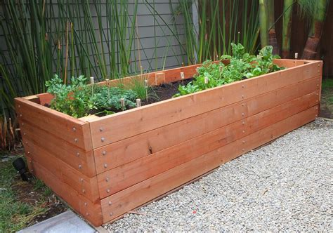 Garden Planter Boxes Ideas Redwood Raised Bed The Comment Drunken Lego Beds Will Be What I Do But This Is