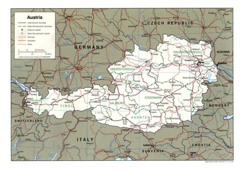 austria map with cities detailed political and administrative map of austria with