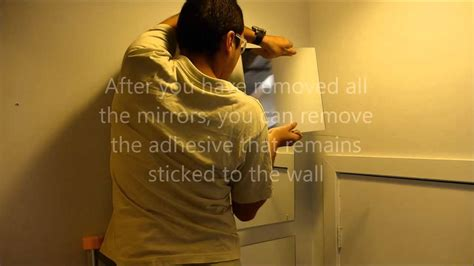 Home Decor Mirror removing and reusing ikea quot lots quot mirrors youtube