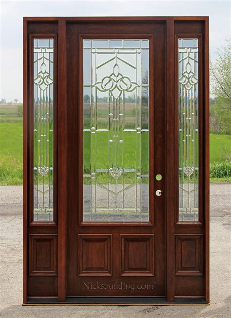 8 Foot Front Door Exterior Doors With Sidelites 8 0 Quot Solid Mahogany Doors