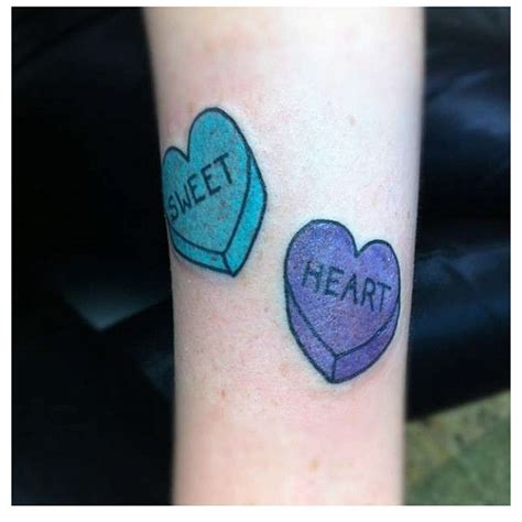 candy heart tattoo inspiration for a s