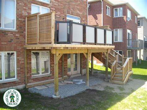 This walk out basement deck provides enough space for