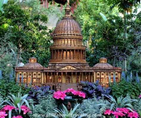 United States Botanic Garden Washington Dc Miniature Replica Of The Capitol As Seen At The Us Botanic Garden During The Holidays