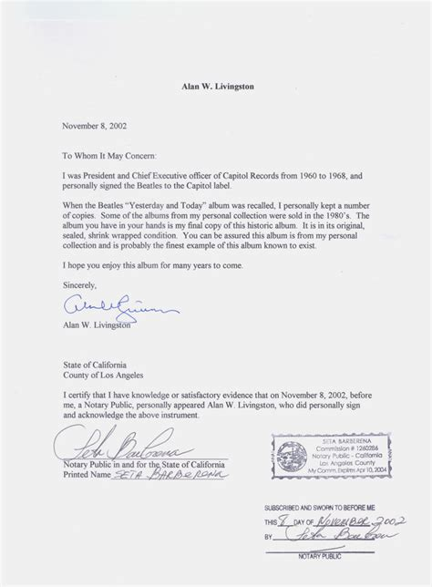 notary letter template best photos of sle of notarized letter florida notary
