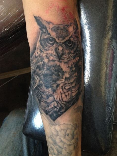 great horned owl tattoo kel s great horned owl 171 sole