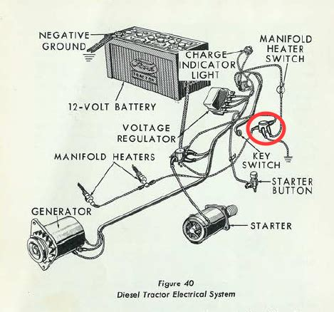 64 ford 4000 gas tractor wiring diagram ford 4000 tractor