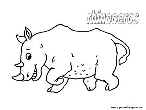 imagenes para colorear rinoceronte rhino para colorear imagui