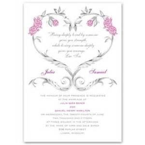 tale roses invitation floral wedding invites