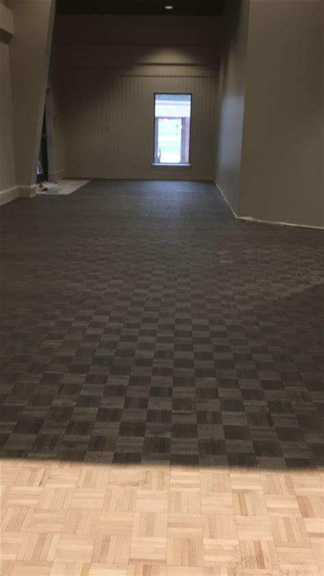 classic gray  ebony parquet floors dark stain floors
