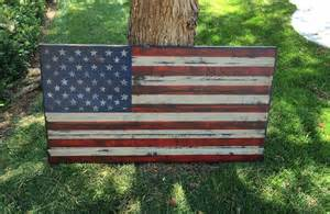 distressed american flag wall art