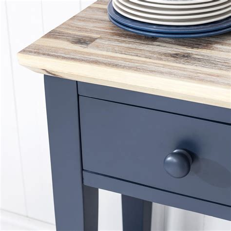 Florence Navy Blue Console With 3 Drawers