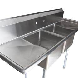 regency 72 quot 16 stainless steel two compartment