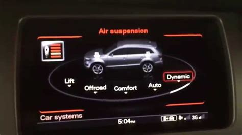 audi dynamic mode audi adaptive air suspension in 2015 q7 demonstration