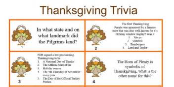 facts for thanksgiving a thanksgiving trivia quiz to play during your
