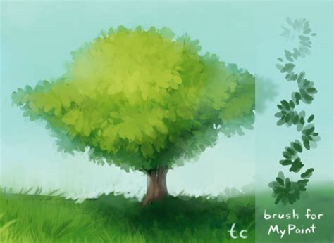 paint tool sai leaf brush mypaint leaf brush by taleclock on deviantart