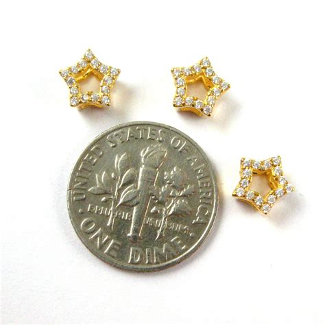 22k gold plated 925 sterling silver charms gold