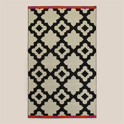 Pink Outdoor Rugs Pink Orange Bordered Flat Woven Indoor Outdoor Rugs World Market