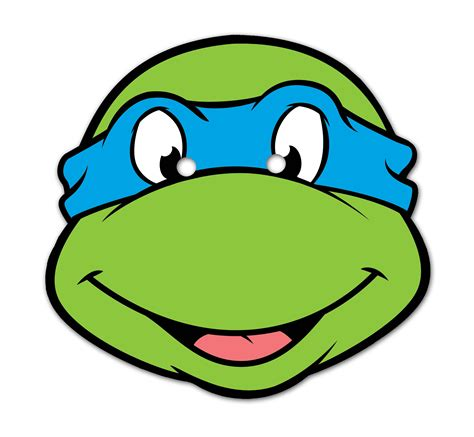 printable leonardo mask michelangelo ninja turtle face leonardo face ninja turtle
