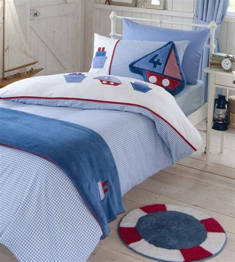 Bed Linens For Yachts Boys Bedding Bed Linen Gingham Boats Duvet Cover Or