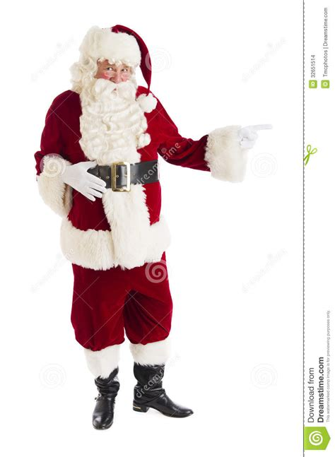 images of santa portrait of santa claus pointing stock photo image of