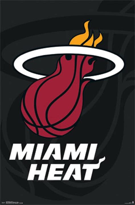 Kaos Nba Team Miami Heat miami heat logo 14 wall poster
