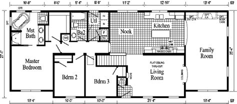 floor plan for ranch style home oakland ranch style modular home pennwest homes model s