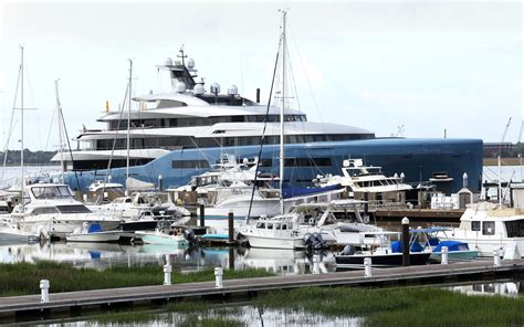 boat store charleston sc super yacht draws attention at charleston city marina