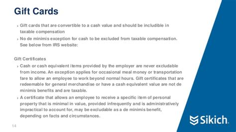 Gift Cards For Employees Tax Issues - payroll best practices webinar