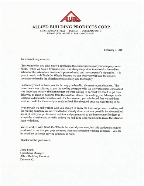 Sle Letter For Product Endorsement Real Endorsements From Real Wash On Wheels