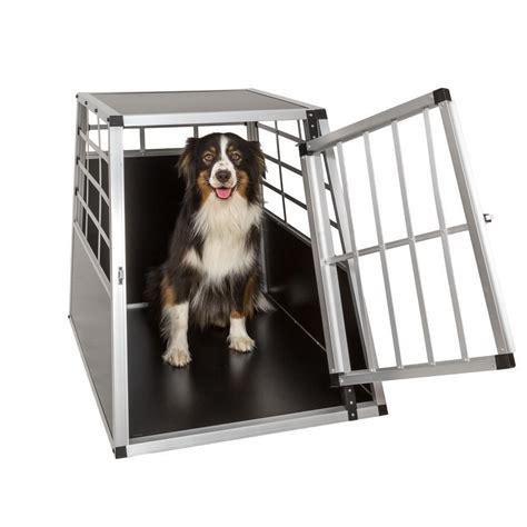 trasportino gabbia in alluminio per cani da auto large l